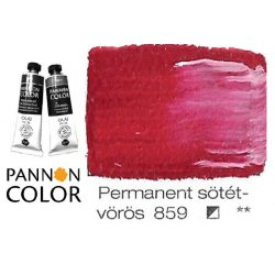 Pannoncolor olajfesték, permanent sötétvörös 859/3, 38ml **