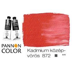 Pannoncolor olajfesték, kadmium középvörös 872/4, 38ml *