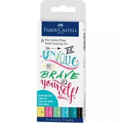 Faber-Castell Pitt művész filctoll  levélíró szett pasztell 6db