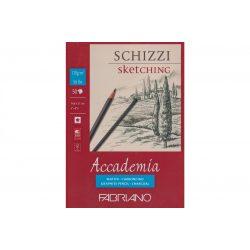 FABRIANO Accademia Schizzi / Sketching tömb 120g/m²-50lap, 14,8*21cm ragasztott ref.41121421