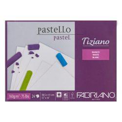 FABRIANO Tiziano tömb, pasztell fehér160gr, 30,5*41cm/24lap