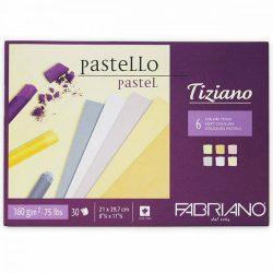 FABRIANO Tiziano tömb, pastell 6x5szín 160gr, A4/30lap