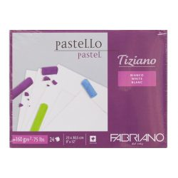FABRIANO Tiziano tömb, pastell fehér160gr, 23x30,5cm/24lap