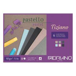FABRIANO Tiziano tömb, pasztell cirmákos 6x5szín 160gr, A4/30lap