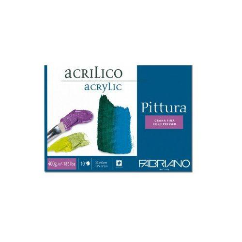 F.Pittura tömb akrilhoz 10lap 25*35cm/400g
