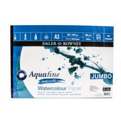 Daler Rowney Aquafine akv.tömb JUMBO sima A3 300g 50lap