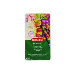 Derwent ACADEMY színes ceruza 12szín/klt fémdobozos (2301937)