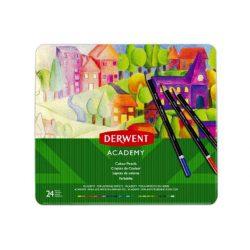 Derwent ACADEMY színes ceruza 24szín/klt fémd.