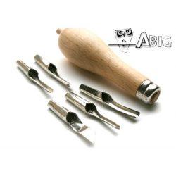 Linómetsző készlet ABIG 5kés+kitolós fanyél