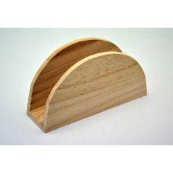 Fa szalvétatartó íves 4*13,5*7,5cm