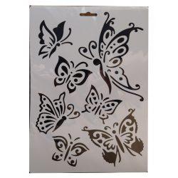 Stencil A4, pillangók
