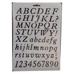 Stencil A4, nyomtatott betűk