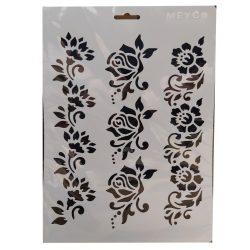 Stencil A4, rózsák
