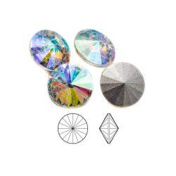 Rivoli, kristály AB 12mm