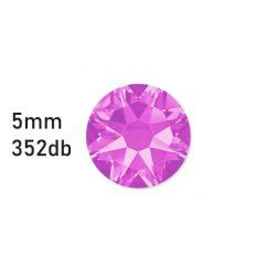 Strasszkő fáradt rózsaszín ragasztható, átm.:5mm  352db strassz/lap
