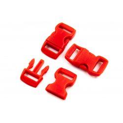 Paracord kapocs piros, műanyag (29x18x11mm)
