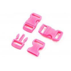 Paracord kapocs pink, műanyag (29x18x11mm)