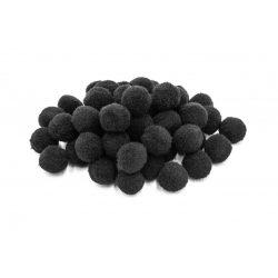 Pompon D=10mm, fekete 100db/csg