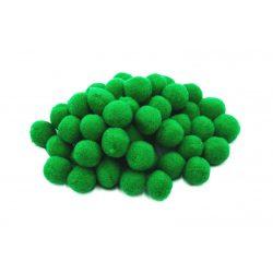Pompon D=10mm, sötétzöld 100db/csg