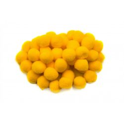 Pompon D=10mm, sárga 100db/csg
