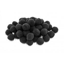 Pompon D=15mm, fekete 100db/csg