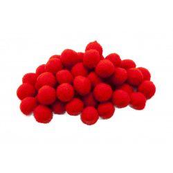 Pompon D=15mm, piros 100db/csg
