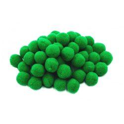 Pompon D=15mm, sötétzöld 100db/csg