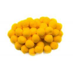 Pompon D=15mm, sárga 100db/csg