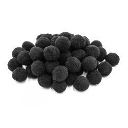 Pompon D=20mm, fekete 50db/csg