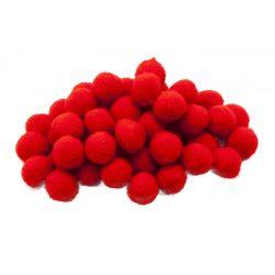 Pompon D=20mm, piros 50db/csg