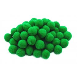 Pompon D=20mm, sötétzöld 50db/csg