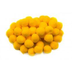 Pompon D=20mm, sárga 50db/csg