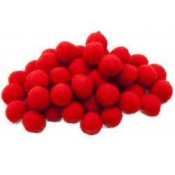 Pompon D=25mm, piros 50db/csg