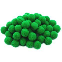Pompon D=25mm, sötétzöld 50db/csg