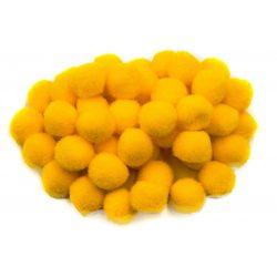 Pompon D=25mm, sárga 50db/csg