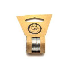 Réz drót 0,3mm vastag, 10m/tekercs, ezüst színű