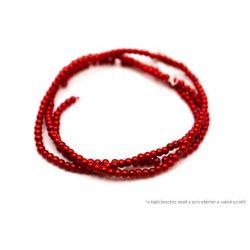 Teklagyöngy füzér piros 4mm