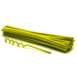 Zsenília szálak 6mmx30cm, 50db/csg - neon sárga