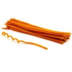 Zsenília szálak 6mmx30cm, 50db/csg - világos narancs