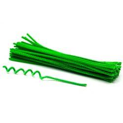 Zsenília szálak 6mmx30cm, 50db/csg - világos zöld