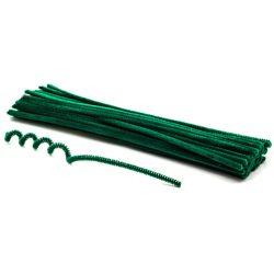 Zsenília szálak 6mmx30cm, 50db/csg - sötét zöld