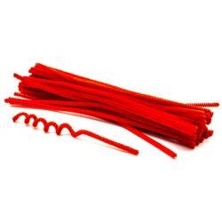 Zsenília szálak 6mmx30cm, 50db/csg - piros