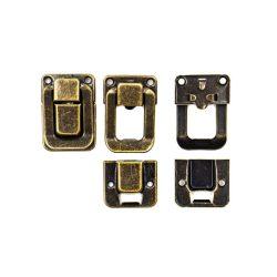 Doboz zár, antik színű 3,5*2,5cm (5db/csomag)