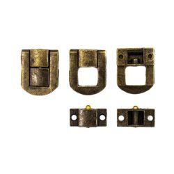 Doboz zár, antik színű 2*2,5cm (5db/csomag)