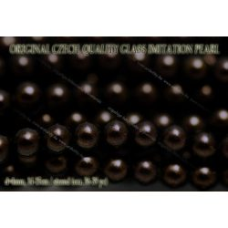 Teklagyöngy, fekete arany 4mm, 36-39 db / szál