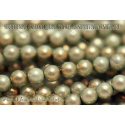 Teklagyöngy, aquazöld 4mm, 36-39 db / szál