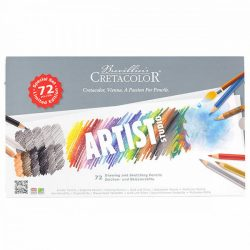 Rajzkészlet, Cretacolor Studio 72 darabos, fémdobozban