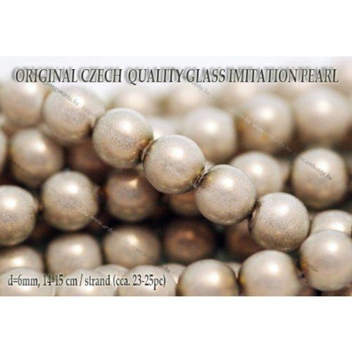 Teklagyöngy, ezüstszürke 6mm, 23-25 db /szál