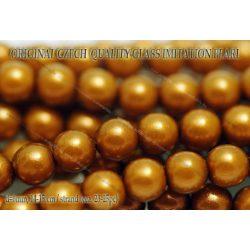 Teklagyöngy, aranybarna 6mm, 23-25 db /szál