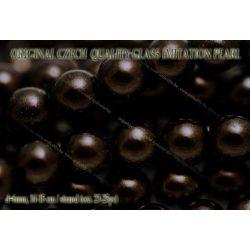 Teklagyöngy, fekete arany 6mm, 23-25 db /szál